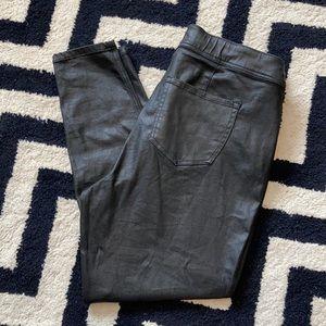 Lane Bryant high rise skinny jeans coated metallic